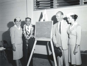 Dedication of the new Interisland Terminal at Honolulu International Airport, 1961.