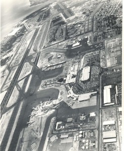 Aerial of Honolulu International Airport, late 1960s.