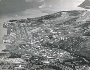 Aerial of Honolulu International Airport, 1962.