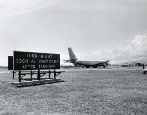 Runway signs at Honolulu International Airport, 1966.