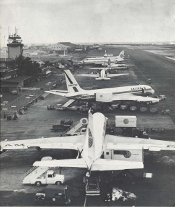 Pan American and United introduced jet airliners at Honolulu International Airport, 1960s.
