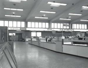 Pan American Airways Ticket Lobby, Honolulu International Airport, 1960.