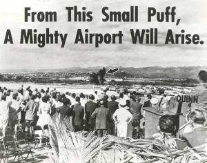 Kahului Airport, Maui, Groundbreaking ceremony, February 1, 1965.
