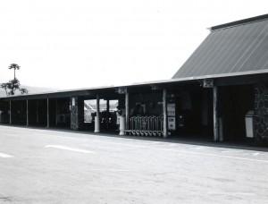 Baggage claim at Kona Airport, 1960s.