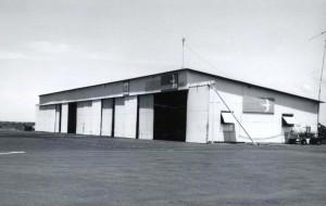 Small plane hangar, Kona Airport, 1966.