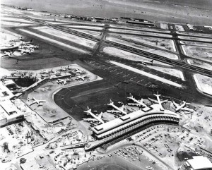 Honolulu International Airport, showing Central and Ewa Concourses, October 1971.