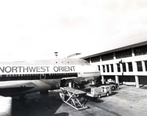 Northwest Orient Airlines at Honolulu International Airport, March 30, 1973.
