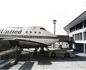 United Airlines at Honolulu International Airport, April 6, 1973.