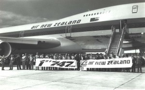 Air New Zealand's first 747