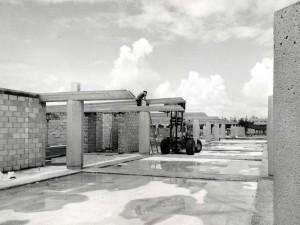 Construction of General Lyman Field terminal, Hilo, Hawaii, 1975.