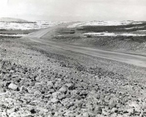 Grading of future Keahole Airport, Kailua-Kona, Hawaii, 1974.
