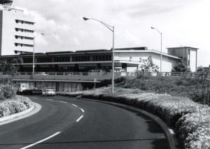 Honolulu International Airport Baggage Claim, Overseas Terminal, 1970s.