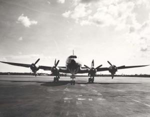 C-121 at Hickam Air Force Base, Hawaii, 1970s.