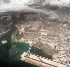 Hickam Air Force Base, Hawaii, with Reef Runway in foreground, November 9, 1978.