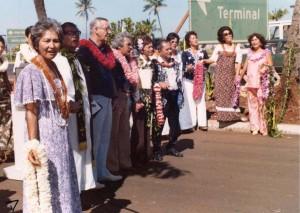 Lei Stand Dedication, Honolulu International Airport, November, 1978.
