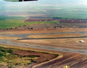 Kahului Airport, Maui, November 15, 1975.