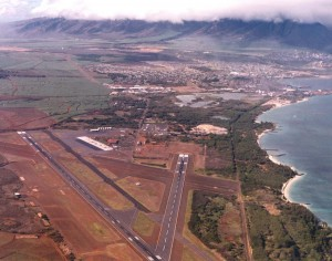 Kahului Airport, Maui, April 1975.