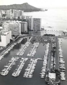 Ala Wai Boat Harbor, Honolulu, 1973.