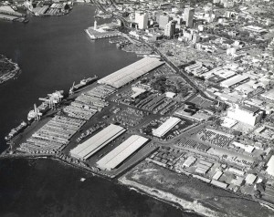 Honolulu Harbor Container Yard, 1973.