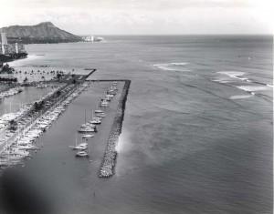 Ala Wai Boat Harbor, Honolulu, 1974.