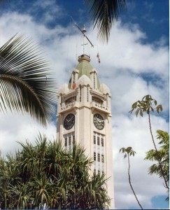 Aloha Tower, Honolulu, 1977.