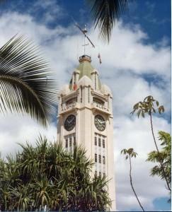 Aloha Tower, Honolulu, 1977.