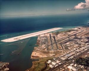 Reef Runway Construction, Honolulu International Airport, February 24, 1976.