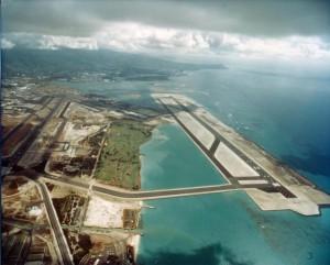 Reef Runway Construction, Honolulu International Airport, October 14, 1977.Reef Runway Construction, Honolulu International Airport, October 14, 1977.