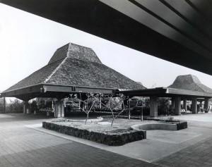 Ticket Lobby, Keahole Airport, Kailua-Kona, Hawaii, 1980s.