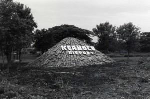 Entrance sign, Keahole Airport, Kailua-Kona, Hawaii, 1980s.