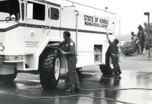 Aircraft Rescue and Fire Fighting Station, Waimea Kohala Airport, Hawaii, 1984.