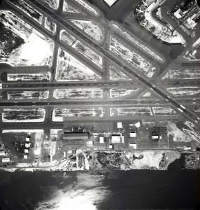 South Ramp aviation area and Runways 4 and 26, Honolulu International Airport, January 26, 1980.