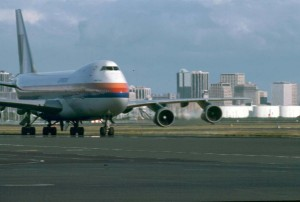 United Airlines at Honolulu International Airport, 1980s.