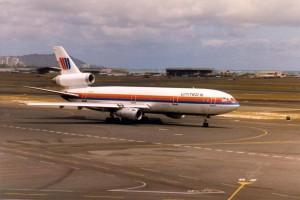 United Airlines at Honolulu International Airport, 1986.