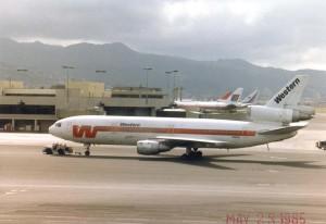 Western Airlines at Honolulu International Airport, 1986.