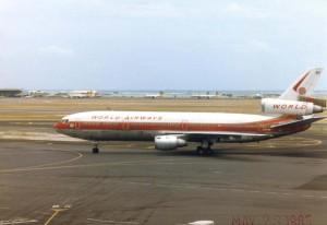 World Airways at Honolulu International Airport, May 23, 1985.
