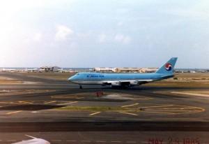 Korean Air at Honolulu International Airport, May 23, 1985.