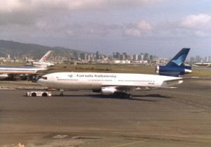 Garuda International at Honolulu International Airport, 1986.