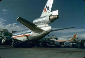 American Airlines at Honolulu International Airport, 1987.