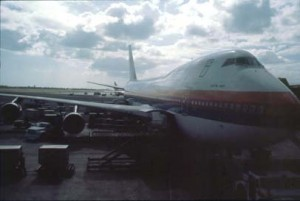 United Airlines at Honolulu International Airport, 1989.