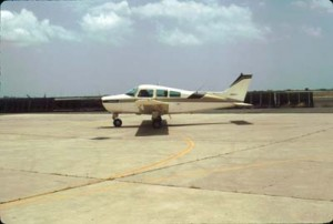 General aviation aircraft at Honolulu International Airport, 1988.