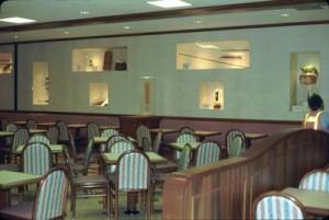 Restaurant area in Commuter Terminal, Honolulu International Airport, June 1988.