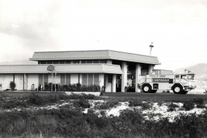 Aircraft Rescue and Fire Fighting Station, Reef Runway, Honolulu International Airport, 1984.