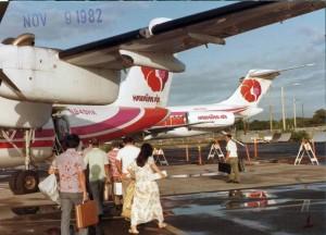 Hawaiian Air at Interisland Terminal, HNL November 9, 1982