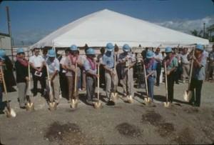 Groundbreaking for new Interisland Terminal, Honolulu International Airport, November 22, 1989.