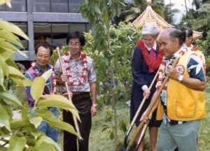Tree Planting Chinese Garden, HNL June 18, 1982