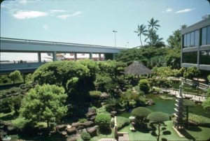 Japanese Garden, Honolulu International Airport, 1987.