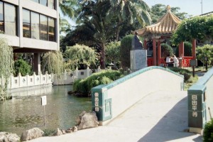 Bridge to Chinese Garden, Honolulu International Airport, 1987.