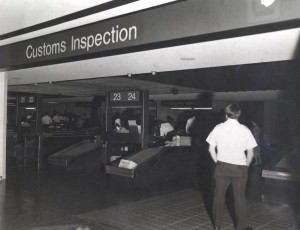 U.S. Customs, Honolulu International Airport, 1985.