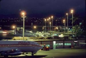 Aloha Airlines at Interisland Terminal, Honolulu International Airport, 1987.
